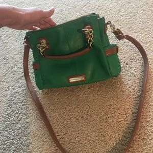 Beautiful green and tan Steve Madden crossbody